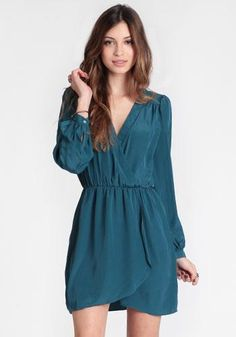 at Threadsence // emerald green dress