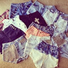 denim shorts -cute-