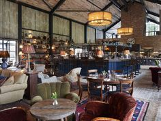 Soho House & Co's in-house design team collaborated with London-based architecture practice Michaelis Boyd on the development of Soho Farmhouse, the. Design Hotel, Café Design, House Design, Hotel Restaurant, Restaurant Design, Restaurant Interiors, Boutique Design, Casa Soho, Hotel Decor