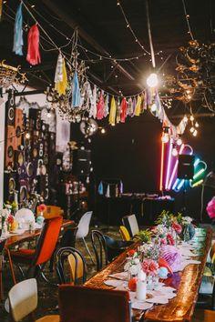 whimsical wedding decor - photo by Lara Hotz http://ruffledblog.com/tongue-in-cheek-whimsical-australian-wedding
