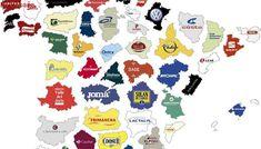 El mapa de las empresas más importantes en cada provincia española