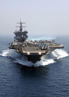 USS Enterprise.  The subject of my most recent painting. ~Rick Herter (RickHerterArt.com)