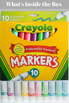 What's inside the Crayola Assorted Colors Markers box?