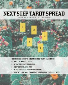 Next Step Tarot Spread - Clear, concise and easy to understand – this tarot spread will help answer any questions you have about moving forward. For more free tarot spreads visit www. Tarot Card Spreads, Tarot Astrology, Oracle Tarot, Tarot Learning, Tarot Card Meanings, Palmistry, Card Reading, Tarot Decks, Numerology