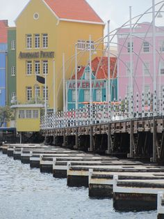 Willemstad, Curacao. Pontoon Bridge and Historic Downtown.  Totally exemplifies the colorful architecture and Caribbean spirit! #JetsetterCurator