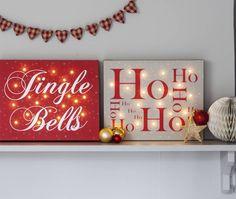christmas illuminated canvas by letteroom | notonthehighstreet.com