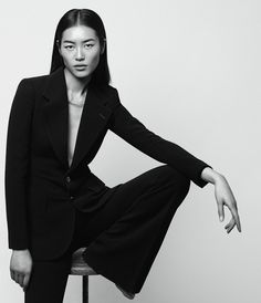 Model Liu Wen suits up in the may issue of WSJ magazine photographed by Daniel Riera. We are truly jealous of the business-inspired looks.