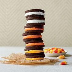 Crème-Filled Chocolate Sandwich Cookies | MyRecipes.com