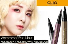 CLIO Waterproof Pen Liner Kill Black/Kill Brown/Kill Blood