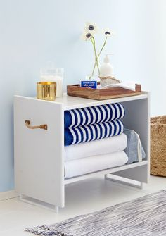 Our favorite IKEA hacks of all time. Everything from IKEA beds, to standing desks to dining tables. DIY furniture projects for every room. Ikea Storage, Storage Hacks, Bathroom Storage, Storage Stool, Rental Bathroom, Extra Storage, Ikea Bathroom, Storage Solutions, Towel Storage