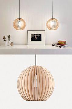 UMI DESIGN wooden ceiling lamp (via doorsixteen's great etsy-seeking eye). Top Interior Designers, Modern Interior Design, Wood Lamps, Ceiling Lamps, Table Lamps, Wooden Ceilings, Luxury Home Decor, Luxury Homes, Dining Room Design