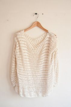 Sweater crochet pattern easy by joyofmotion on Etsy