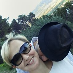 #KissWithTheHat with a panoramic view.  On the road to Montemarcello, La Spezia, Liguria