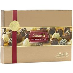 Lindt Gourmet Assorted Chocolate Truffles Gift Box (7.3 Oz) Lindt