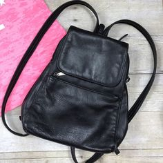 e6776e1737 AURIELLE Black Small Leather Shoulder Hobo Tote BackPack Slingpack Purse Bag