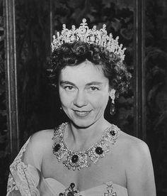 Greek royal jewels....Queen Frederika of Greece