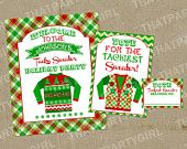 Ugly Sweater Holiday Party Welcome Sign Voting Sign Voting Cards - DIY digital U Print