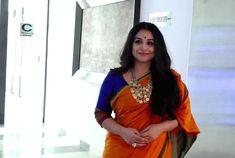Vidya Balan In Hot Orange Saree at Gujarat Literature Festival - Tollywood Stars