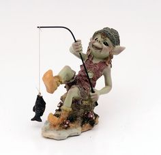 A goblin's name: Angler pixies  Size: 12 x 11 cm