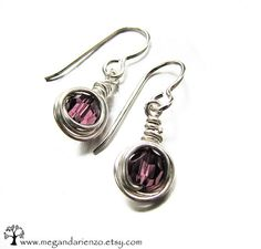 Amethyst simplicity earrings February Birthstone by megandarienzo, $24.00  if u love these then u will love the necklaces to