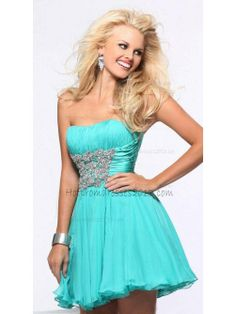 Strapless Beading Sequins Short Home Coming Blue Dresses on Sale [Short Homecoming Blue Dresses] - $149.00 : Discount Dresses for Prom 2013,Up 50% Off