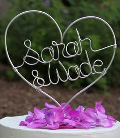 Personalized Cake Topper, etsy, $45