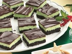 Mint Cheesecake Squares