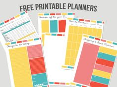 cute planner pages!