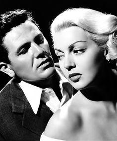 "Lana Turner and John Garfield in the classic film noir ""The Postman Always Rings Twice"", 1946."