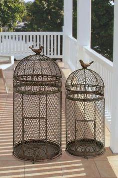 Metal Bird Cages - Set of 2