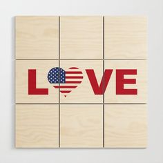 Love USA American Patriotic Feeling Wood Wall Art Looking for a new perspective on your wall decor? Our Wood Wall Art is a multi-piece wall design composed of nine Baltic birch squares - just piece them together to form the full design. Plus, you can adjust the spacing between the pieces for a personal touch. Available in three sizes. New Perspective, Baltic Birch, Wood Wall Art, Wall Design, Squares, Wall Decor, Touch, Feelings, Usa