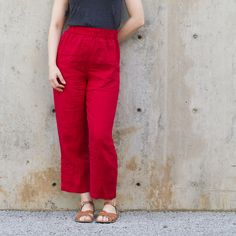 McCall's 2735 in red linen