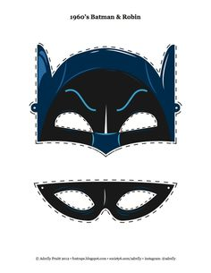 robin mask | 1960's Insp. Kid's Batman & Robin Mask - I designed this for my little ...