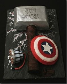 Thor food ideas | It's hammer time! Cake by Kavingate