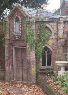 A shell house folly in the garden of Sutton House, the former rectory. May once have been occupied by a hermit.