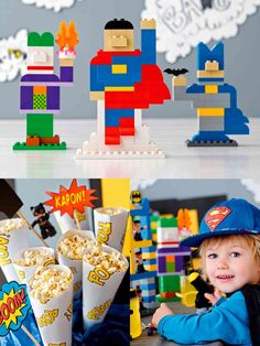 Is it a bird? Is it a plane? If you're playing with DUPLO bricks it could be anything… so of course it can be a super hero birthday building party for your own preschool super hero!
