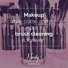 """Makeup may come and go, but brush cleaning is forever"" - Marilyn Monroe #nanshy #makeup #quoteoftheday"