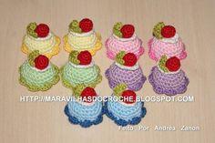 Mini-Cakes de Croche. | Andrea Cristiani Mary Hirota Zanon | 21263D - Elo7