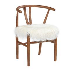 Loving the line on this chair, but the cushion would have to be reupholstered (navy blue linen?) Wishbone Accent Chair - White - Threshold™ : Target