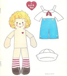 Raggedy Ann and Andy from Doll World Magazine, April 1987