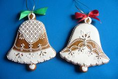 Holiday Treats, Holiday Decor, Christmas Cookies, Christmas Ornaments, Honey Cake, Biscuits, Applique Designs, Rustic Christmas, Royal Icing