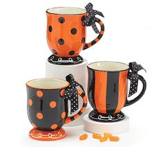 Be festive for Halloween with these #burtonandburton assorted mugs! #halloween #mugs