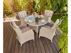 Buy Heart of House Argenta 4 Seater Patio Set at Argos.co.uk - Your Online Shop for Garden table and chair sets, Garden furniture, Home and garden.