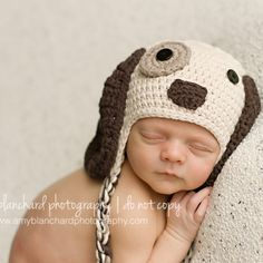 Look at this Melondipity Brown Puppy Dog Crochet Earflap Beanie on today! Baby Boy Hats, Baby Boy Newborn, Baby Baby, Baby Sleep, Little Puppies, Dogs And Puppies, Crochet Baby Hats, Dog Crochet, First Baby Pictures