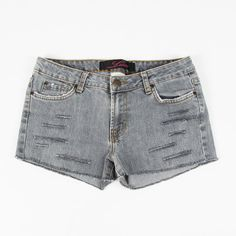 $49 LUX urban outfitters grunge GREY DESTROYED SHREDDED CUTOFF jean shorts 5 S $9.99
