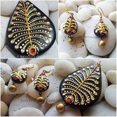 Quilling Jewelry, Clay Jewelry, Funky Jewelry, Handmade Jewelry, Teracotta Jewellery, Terracotta Jewellery Designs, Polymer Clay Earrings, Jewelry Design, Fashion Jewelry