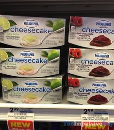 SPOTTED ON SHELVES: Philadelphia Key Lime and Dark Chocolate Raspberry Cheesecake Cups