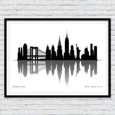 New+York+Print+New+York+Skyline+New+York+Art+New+by+Redpostbox
