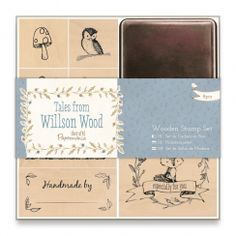 Papermania Wooden Stamp Set (8pcs) - Tales from Willson Wood