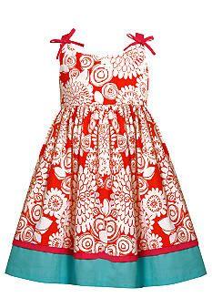 Bonnie Jean® Floral Print Dress Girls 4-6X